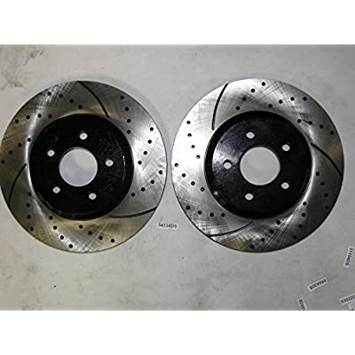 Approved Performance F15776 - [Front & Rear Kit] Performance Drilled/Slotted Brake Rotors and Ceramic Pads (V8 Models Only - Not for Brembo Brakes): Automotive