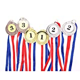 Buorsa 6 Pieces Gold Silver Bronze Award Medals Olympic Style Winner Medals 1st 2nd & 3rd Place Medals Bulk with Ribbon for Games, Shows, Competitions