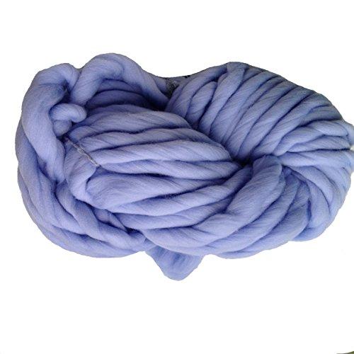 Zituop Super Chunky Roving Big Yarn for Hand Knitting Crochet, 250g, 8.8 Ounze (Sky blue)
