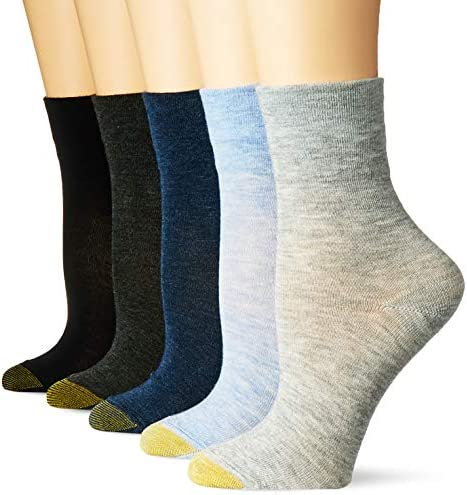 Gold Toe womens Ultra Soft Mid Crew Socks, 6 Pairs
