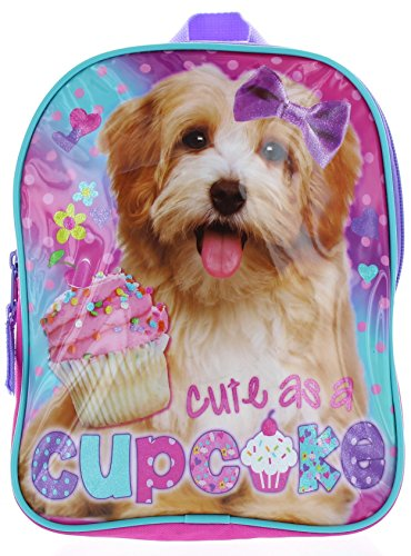 """""""Cute as a Cupcake"""" Dogs 10″ Mini Backpack – Puppy Toddler Backpack"""