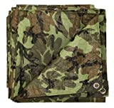 Stansport T-1216-C Reinforced Multi-Purpose Tarp, Woodland Camo - 12 X 16-Feet