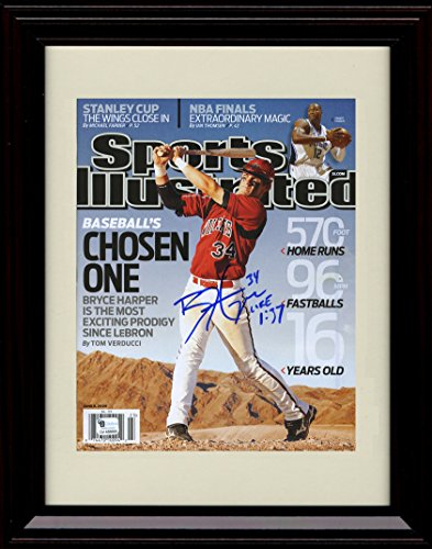 Framed Bryce Harper Sports Illustrated Autograph Replica Print - The Chosen One