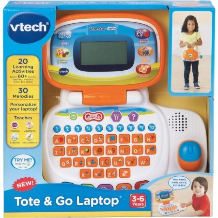 VTech Tote & Go Laptop / The learning laptop has 20 learning activities teach 60+ words, spelling, shapes, logic, animals and more by VTech (Image #2)