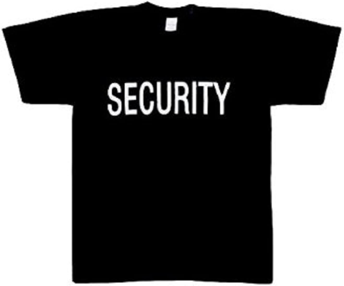Army Universe Black Security Double Sided Official Bouncer Party Event Raid T-Shirt Security Staff Tee Pin