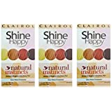 Clairol Natural Instincts Hair Color Shine Happy 00 Kit, Clear Shine, 3 Pack, Hair Shine Treatment With Weekly Conditioning Treatments
