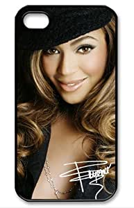 Creative Beyonce Signed HD image case cover for iphone 4/4S black well-designed gift