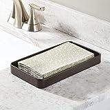 mDesign Modern Decorative Metal Guest Hand Towel