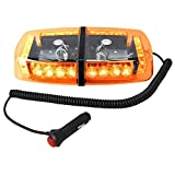 ultra tow light bar - HQRP 24 LED New Generation Mini Light Bar Amber Yellow Warning Strobe w/ Magnetic Base for Crawler Loader / Dozer Crawler / Over-The-Road Truck / Trailer plus HQRP UV Meter