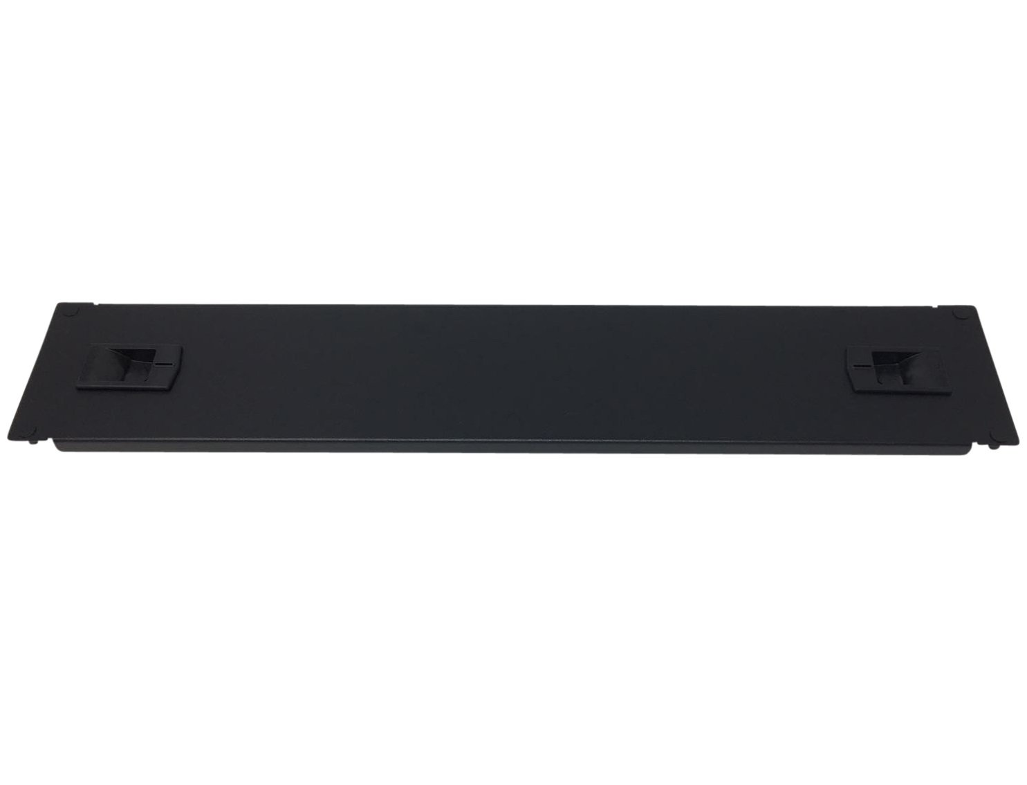 Kenuco 2U Toolless Rackmount Space Spacer Blank Rack Mount Filler Panel for IT Racks and Cabinets, Solid Black, 19''