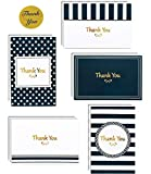 100 Thank You Cards Box Set with Gold Foil Embossed Designs | 4 x 6 Inches, Bulk Blank Note Cards with Envelopes and Gold Stickers | Perfect for Wedding, Bridal Shower, Baby Shower, Business (Navy)