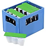 elasto form 4er Set Getränkekühler Ice2go Bierkastenkühler Kühlung für Flaschen 0,5l - Einmalige Befüllung und Immerwieder Verwendbar (Grün)