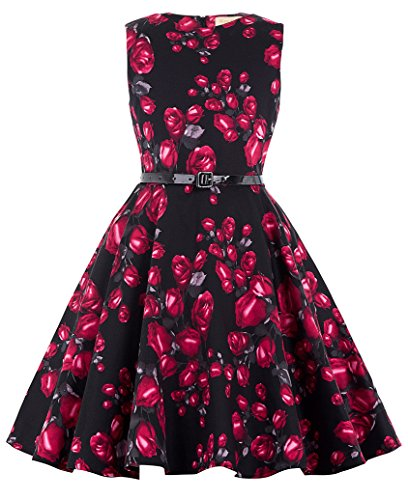 Kate-Kasin-Girls-Sleeveless-Vintage-Floral-Swing-Party-Dresses