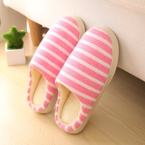 Fankou amore tutto il pacchetto con cotone pantofole home morbido interno piano terra scarpe basse, Pattino a molla ,35-36,BF001 Arancione