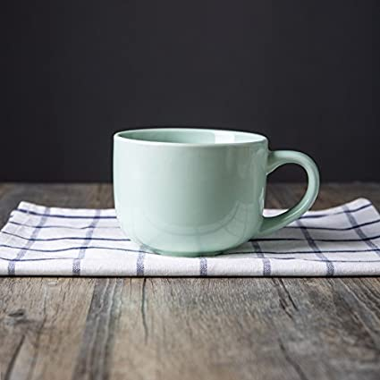 Taza de cerámica taza de harina de avena, agua pura, leche de la taza