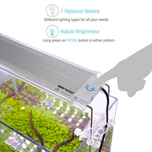Pawfly Led Aquarium Light Adjustable Brightness Fish Tank