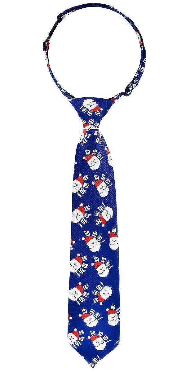 Retreez Christmas Santa Claus Woven Pre-tied Boys Tie