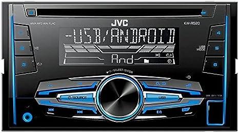 Auto Radio Cd Receiver Jvc Mit Usb Cd Aux Uvm Für Elektronik