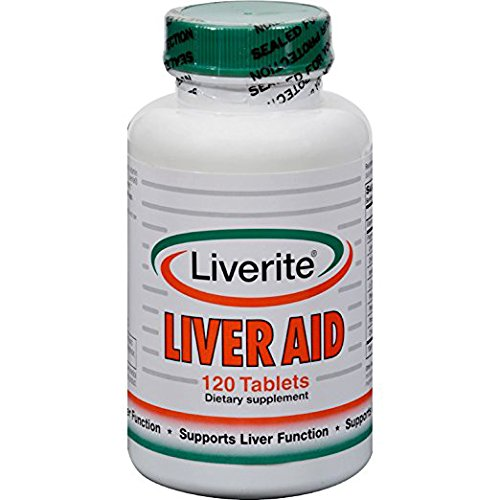 Liverite Liver Aid, Supports Liver Function and Cleanses the Liver, 120 Tablets (Liver Liverite Aid)