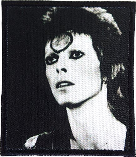 David Bowie - Black & White Face Shot - Sew or Iron On Patch ()