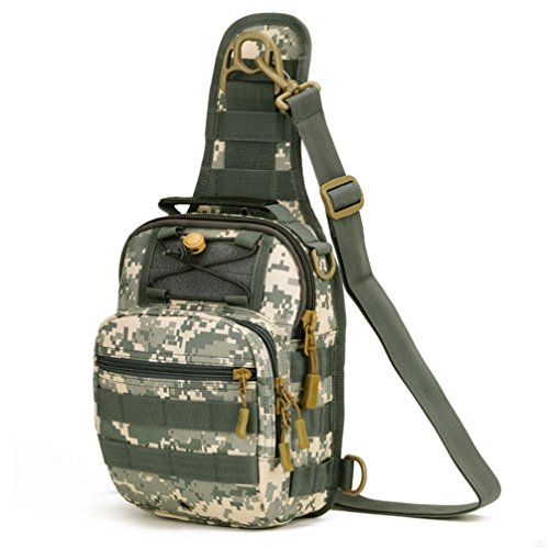 GADIEMKENSD Military Tactical Sling Chest Pocket Leisure Lnclined Shoulder Camouflage Bag For Ipad Sports Outdoor Photography Riding Camping (ACU digital S)