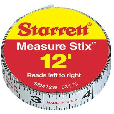 L S STARRETT Measure Adhesive Backing product image