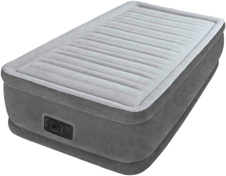 "Full Air Mattress 18/"" Raised Twin Size Aerobed Intex Built Pump Inflatable Bed"