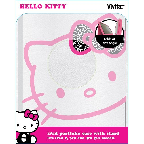 Hello Kitty iPad Portfolio Case with Stand Fits iPad 2nd, 3rd and 4th Gen
