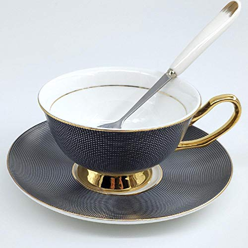 (ACOOME Tea Cup and Saucer Set-6.8oz Bone China Teacup Fine Dining and Table Decor (Color-1))