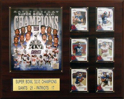 NFL New York Giants Super Bowl XLVI Champions Plaque