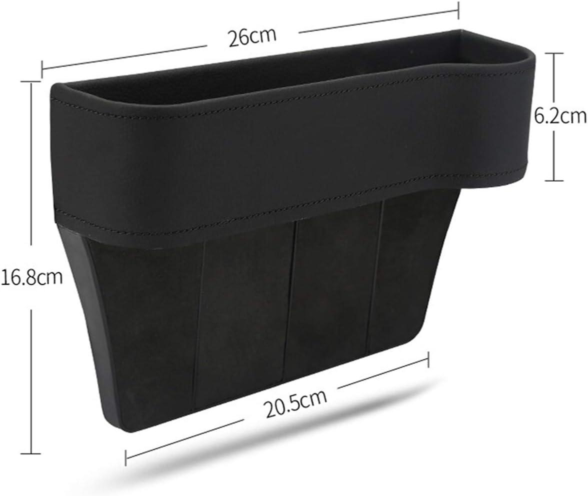 Eurobuy Car Seat Gap Organizer with Cup Holder Car Seat Gap Filler Console Side Storage Box for Passenger Seat Black