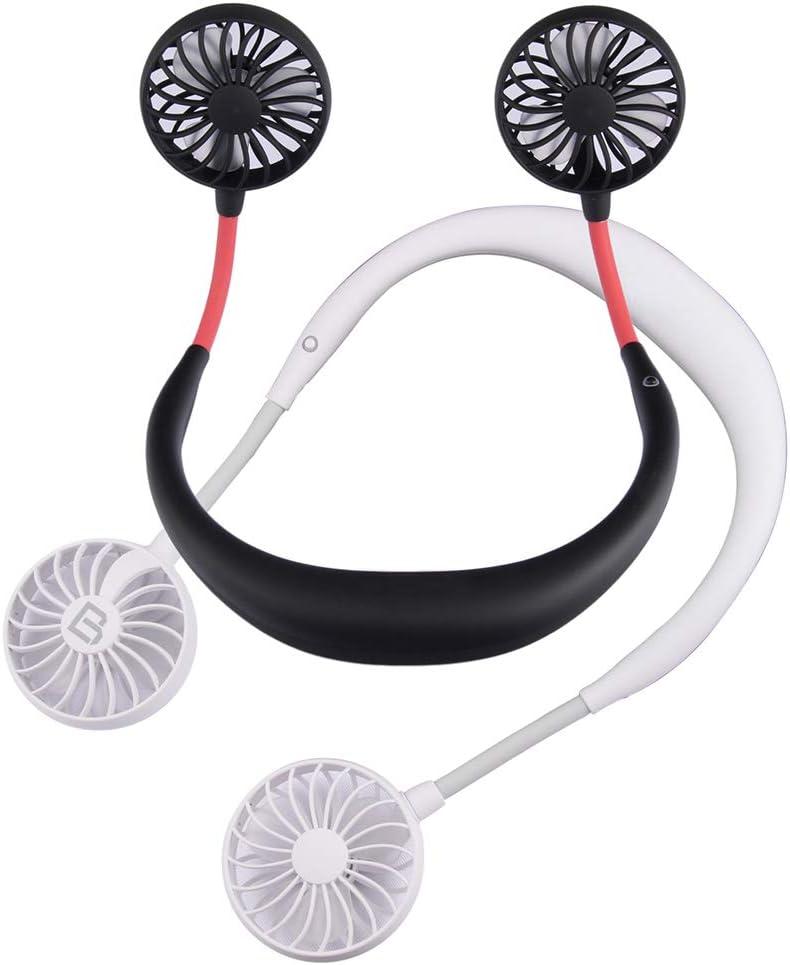 laizetongxun Mini Neck Hanging Fan USB Charging Portable Cooler Blower for Outdoor Travel USB Charging