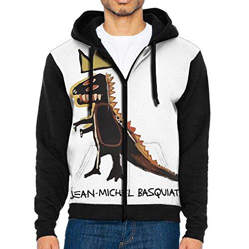 Black Panther Half Mask (Men's Basquiat Dinosaur Crown Funny Casual Pocket Sweatshirt Full Zip Hoodie Crew Hooded Shirts Athletic Sportwear)