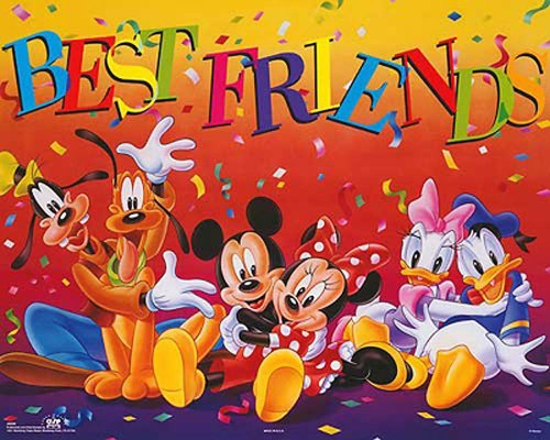 Walt Disney Mickey & Friends: Best Friends. Children's Poster Print - Walt World Posters Disney