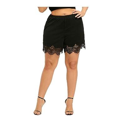 Overmal Femme Eté Sexy Taille Haute Maigre Pantalon Court Impression  Décontracté Sport Yoga Jambes Larges Short 83cae42c048