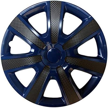 IQQI 15インチ、STYLE WHEEL TRIMS、ほとんどの車のためのハブキャップカバー,Blue set of 4