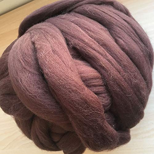Maslin 300g Wool roving Needle Felting Wool 66S Wool Felt Wool 123 Colour Please Leave a Message Color Number for Any Choice of Color - (Color: 300g)