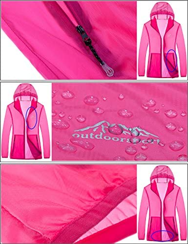 Mr.Stream Women's Mountain UV Protect Hiking Windbreaker Walking Lightweight Jacket Thin Outdoor Hooded Coat