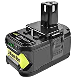 Bonadget Replacement Ryobi 18V Battery 4.0Ah Lithium Ion for ONE Plus P102 P108 P107 P105 P104 P109 Cordless Power Tools Battery Pack (4.0Ah)