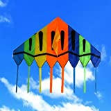 Giant delta kite 6 x 8 ft Easy Flyer with String and Handle, Classic Delta Kite, Brilliant colors in the sky