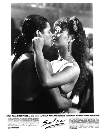 MOVIE PHOTO: SALSA-1988-ROBBY ROSA-ANGELA ALVARADO-B&W-8""