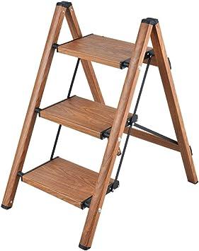 Estante De Escalera Pequeña Antideslizante For El Hogar Aleación De Aluminio Plegable Escalera De 3 Escalones Estante De Flores Panel De Pie: 32x20cm (Color : Brown): Amazon.es: Bricolaje y herramientas