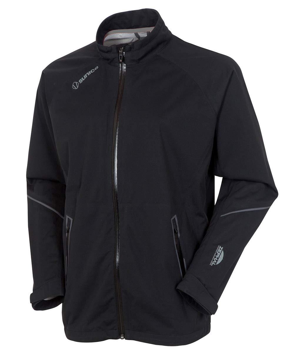 Men's Jay Waterproof Stretch Jacket - Black/Black by Sunice
