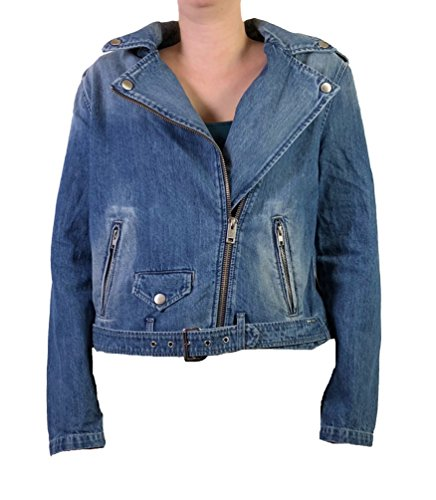 Diesel Womens Jeans Jacket R-Lupus Blue (Diesel Denim Jackets)