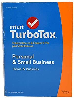 Intuit TurboTax 2014 Personal Home Small Business Federal/State eFile