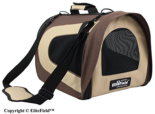 EliteField Deluxe Soft Pet Carrier (3 Year Warranty, Airline Approved), Multiple Sizes and Colors Available (20