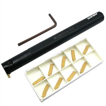 MGEHR1010-2 10mm Grooving Lathe Turning Tool Holder /& 4Pcs MGMN200 Blad