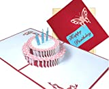 Paper Love Happy Birthday Card | 3D Pop Up Greeting Card | Write In Your Birthday wishes | Best Birthday Gift Idea For everyone