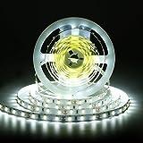 White LED Light Strip, Nexlux 16.4ft 12V Flexible daylight white 300 Units ...