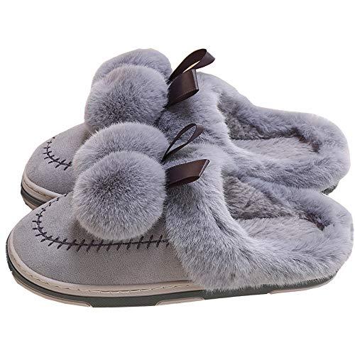 Pantofole E Grigio Delle Morbide Casa Invernali Palla Donne Slippers Kemosen Peluche Di Uomini Calde pantofole Antiscivolo Degli dxqawAw